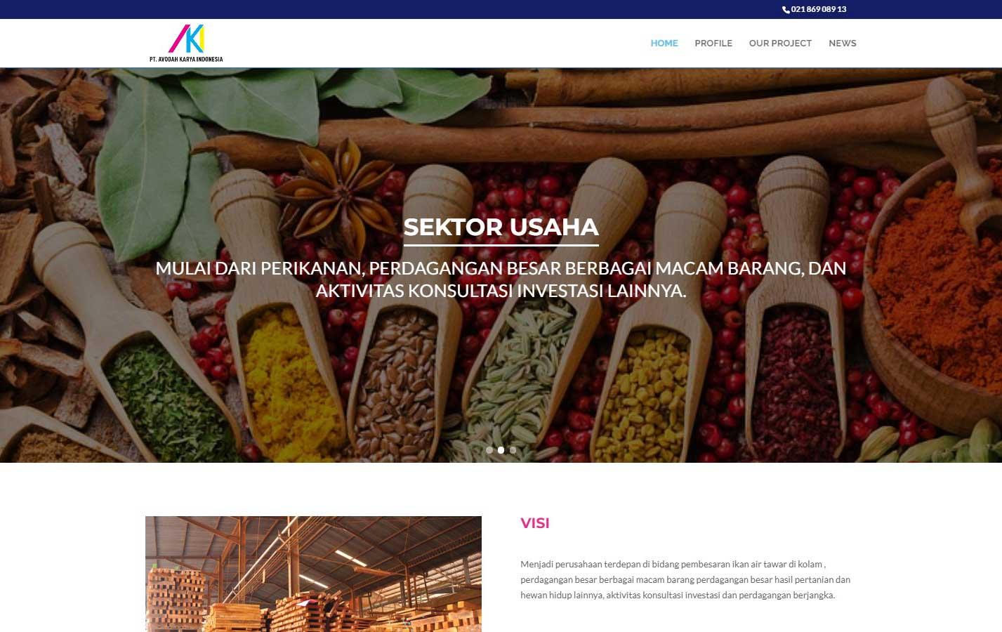 jasa pembuatan webset perikanan perdagangan