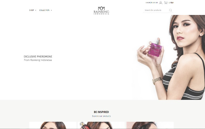 Jasa buat website toko parfum