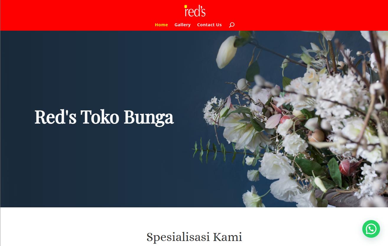 Jasa bikin website toko bunga