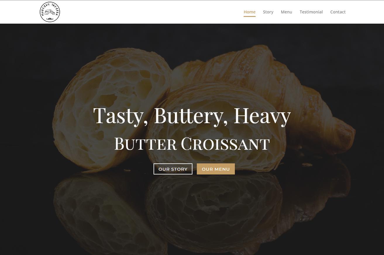 Jasa buat website toko roti