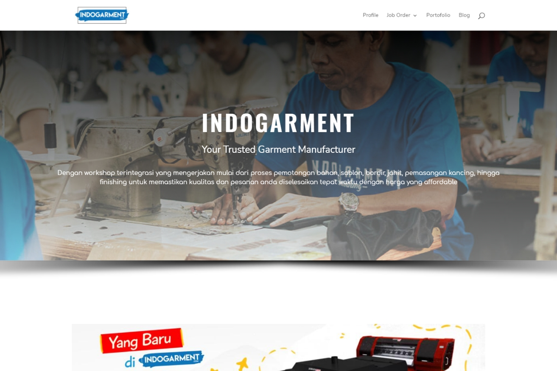jasa pembuatan website industri garment